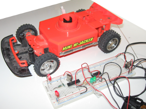 Car and the controller breadboard