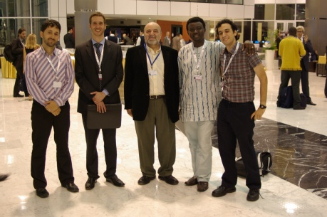 Dima., Oren from the Israleli embassy, Rimon from ISOC-IL, gbe from Nigeria and me