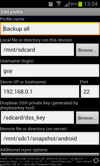 Rsync 4 android profile page 1