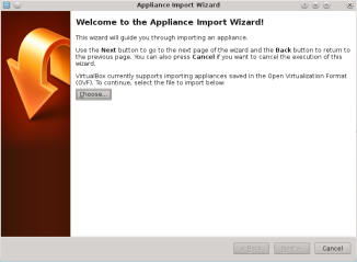 Virtualbox Import