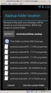 Titanium Backup backup folder set