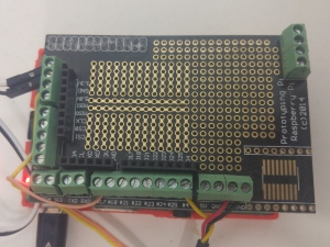 Raspberypi wiring . Two temp sensors on GPIO 4, one Solid state relay (SSR) on GPIO 17