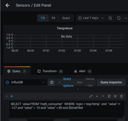 This is the edit dialog, you can change 'topic = 'esp/temp' to any other topic